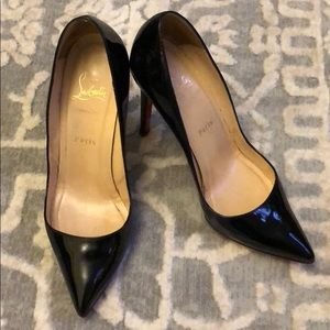 Christian louboutin black pigalle 100 mm 39